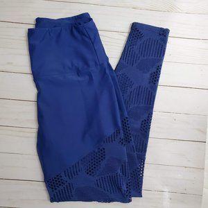 Onzie Flow Blue Mesh Combo Leggings Med / Large